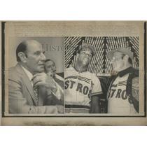 1972 Press Photo Houston Astros Mgr Leo Durocher - RRQ05777