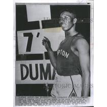 1956 Press Photo Charles Dumas Olympic Trials - RRQ04487