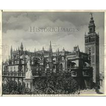 1931 Press Photo Cathedral of Seville damaged and looted by Communist rioters