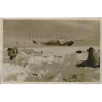 1934 Press Photo Daniel Godfrey, Martin Lindsay of British Arctic Expedition