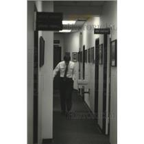 1993 Press Photo Bud Selig walks the office corridor at County Stadium