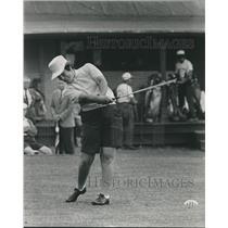 1963 Press Photo Louise Suggs at a Jaycee Women's Golf Tournament - mjb98058