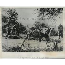 1940 Press Photo Rainwater and mud help Greece repel Italian Invasion