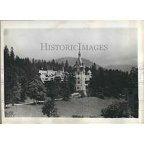 1929 Press Photo The Romanian Palace in the heart of the Carpathian mountains