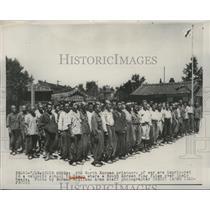 1956 Press Photo North Korean POWs at a catholic school in Taegu - nem56878