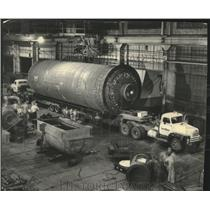 1952 Press Photo Coke drum at A O Smith Corporation vessel shop in Milwaukee