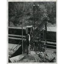 1957 Press Photo Unidentified man at DeBardeleben Coal Mine - abna16812