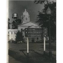 1965 Press Photo Hayneville, Alabama, Liuzzo Trial, Selma, Montgomery Mileage