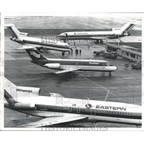 1976 Press Photo Airliners on Tarmac at Birmingham Airport, Alabama - abna25835