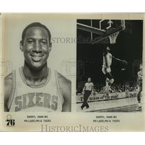 Press Photo Philadelphia 76ers basketball player Darryl Dawkins - sas07493