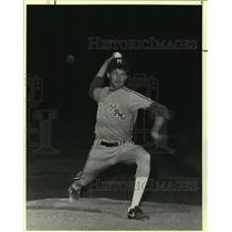 1986 Press Photo MacArthur High baseball pitcher Mike Copple - sas07522