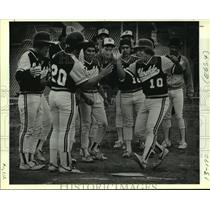 1987 Press Photo Uvalde and Alamo Heights play high school baseball - sas07770