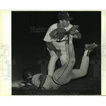 1988 Press Photo Holmes and Jay play high school baseball - sas07827