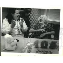 1994 Press Photo Sarah Frazier celebrating her 105th Birthday at St. Anthony's