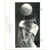 1994 Press Photo Meg Vitter, Ben Franklin volleyball player during practice