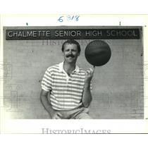 1989 Press Photo New Chalmette High School Basketball coach, Bill Gallagher