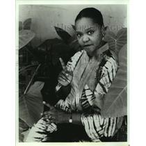 1995 Press Photo Adella Gautier - Adella Adella The Storyteller - nob15859