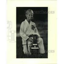 1986 Press Photo Bruce H. Gaudet Jr., third place U.S. Tae Kwon Do Association