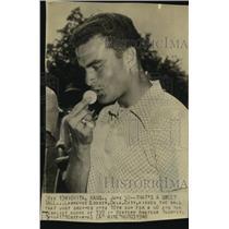 1948 Press Photo Golfer Lawrence Gosser at Western Amateur Tournament