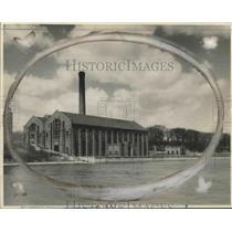 1928 Press Photo Milwaukee Riverside Water Department Pumping Stations