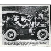 1950 Press Photo An American jeep patrol returns to friendly lines after ambush