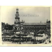 1932 Press Photo Plaza De Espana At Seville Where General Sanjurjo Has Control