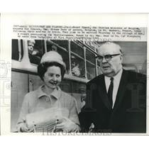 1965 Press Photo Foreign Minister Paul-Henri Spaak and Mme. Simone Dear, Belgium