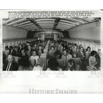 1968 Press Photo Lockheed's 1011 jet liner's coach section during demonstration