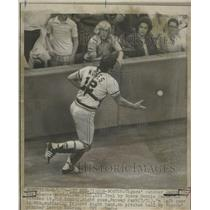 1974 Press Photo Jerry Moses Catcher Detroit Tigers - RRQ18275