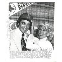1977 Press Photo Boston Red Sox Pitcher Mike Torrez - RRQ19809