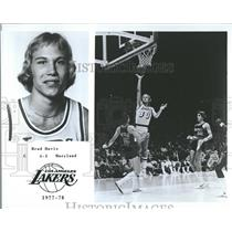 1977 Press Photo Brad Davis Los Angeles Lakers basketba - RRQ20759