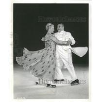 1961 Press Photo Orrin Markhus Irma Thomas Skater - RRQ21391
