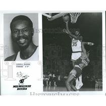 1975 Press Photo Cornell Warner Forward Milwaukee Bucks - RRQ22315