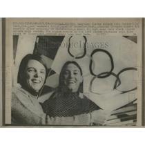1968 Press Photo Olympics Kiki Cutter Kathy Nagel Skier - RRQ22979