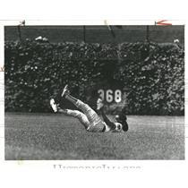 1978 Press Photo Chicago Cub Rodney Scott Catches Ball - RRQ23865