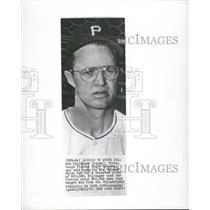 1950 Press Photo Bob Dillinger Pittsburgh Pirates White - RRQ27513