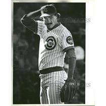 1985 Press Photo Cubs Warren Brusstar Relief Pitcher - RRQ30003