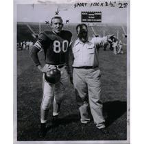 1953 Press Photo Michigan Captain Don Dohonev  Biggie