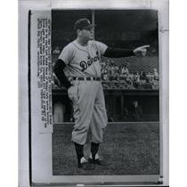 1958 Press Photo Bill Norman Detroit Tigers Fenway Park