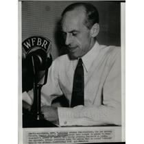 1938 Press Photo Senator Millard Tydings Denton radio