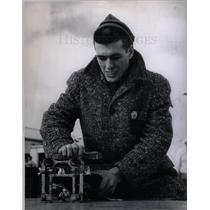 1958 Press Photo Keith Meyer  Speed Skater