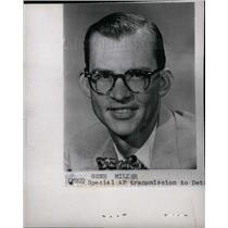 1960 Press Photo Gene Miller, investigative reporter