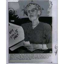 1956 Press Photo Rep. Ruth Thompson MIchigan