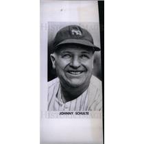 1947 Press Photo Johnny Schulte pro baseball