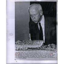 1964 Press Photo Norman Thomas SOCIALIST LEADER NewYork
