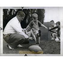 1940 Press Photo Lynn Waldorf Northwestern coach sport