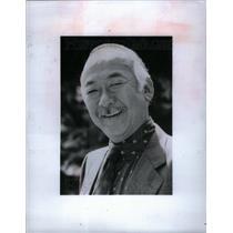 1989 Press Photo Noriyuki Pat Morita actor academy