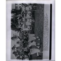 1956 Press Photo north allstars south allstars