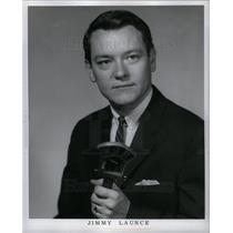 1964 Press Photo Jimmy Launce WJR radio station Detroit