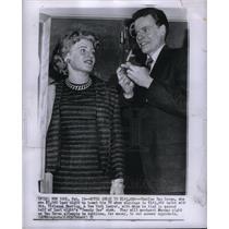 1957 Press Photo Vivienne Nearing Twenty One TV show